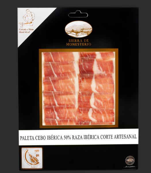 paleta cebo iberico 75 50 raza iberica corte artesanal